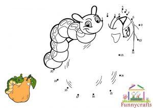 caterpillar dot to dots sheet