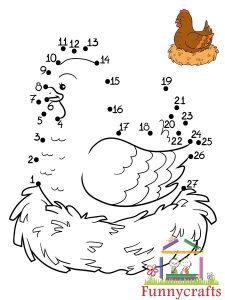 chicken dot to dots sheet