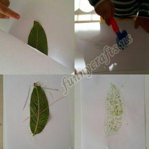 easy leaf printing printing