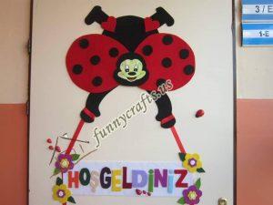 felt door decoration