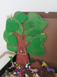 forest friends sensory tub