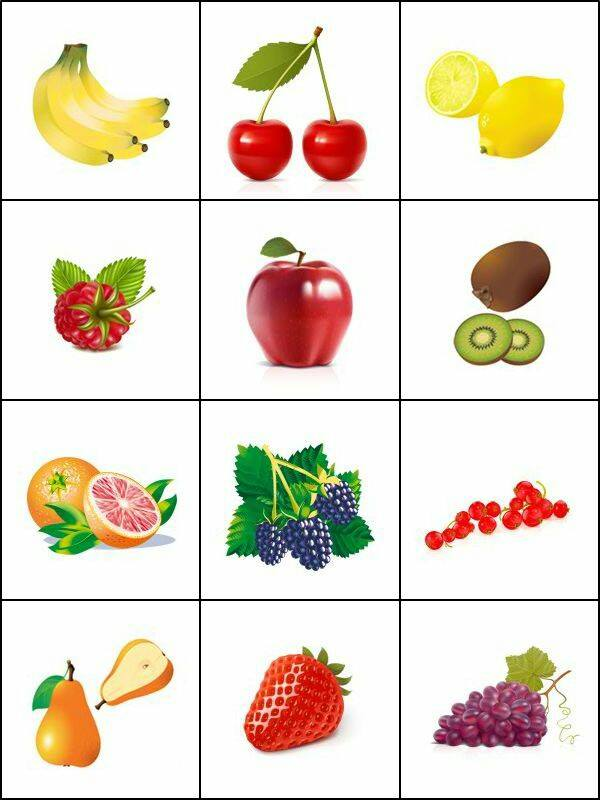 Fruit and vegatable worksheets » fruit printable cards