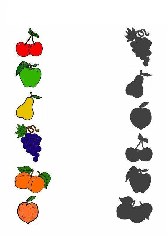 Fruit Shadow Matching Funnycrafts