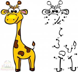 giraffe dot to dot sheet