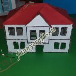 Cardboard home projects for school