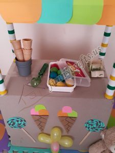 how to make a cardboard ıce cream shop