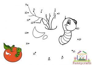 hungry caterpillar dot to dots sheet