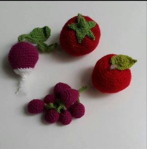 knitted food art vegetables and fruits for kids