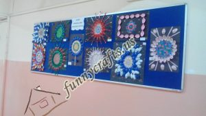mandala craft bulletin board (1)