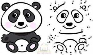 panda dot to dot sheet