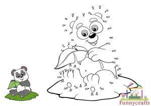 panda dot to dots sheet