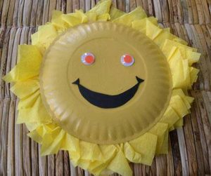 paper plate sun craft (3)