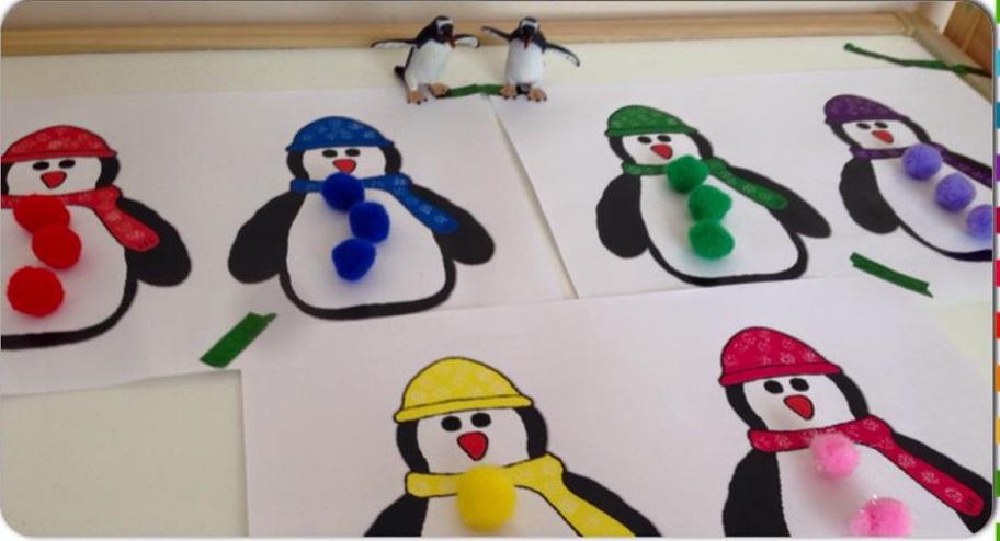 Penguin Color Match Card Activity For Kids Funnycrafts