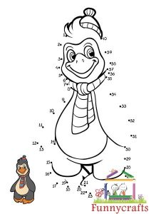 penguin dot to dots sheet