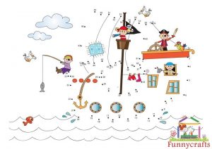 pirate theme dot to dots sheet
