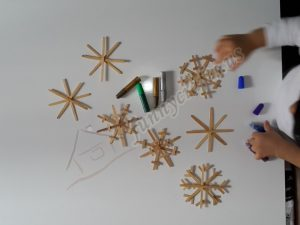 popsicle stick snowflakes craft