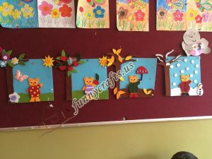 season felt bulletin board ideas