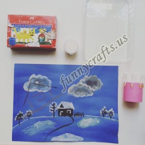 simple q-tip painting for kids