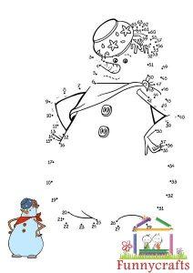 snowman dot to dots sheet (1)