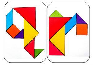 tangram alphabet Q-R