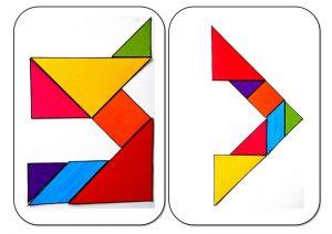 tangram alphabet U-V