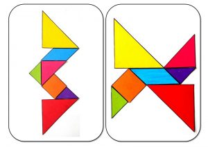 tangram alphabet W-X