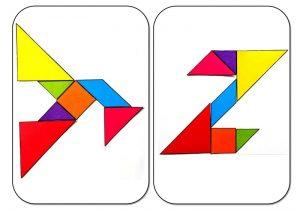 tangram alphabet Y-Z