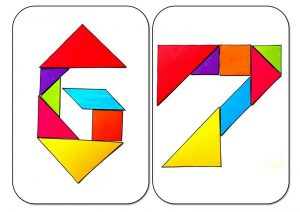 tangram numbers six and seven