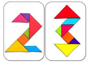 tangram numbers two and tree