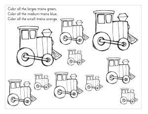 train coloring alphabet