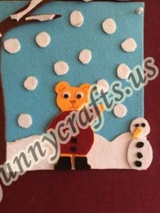 winter felt craft