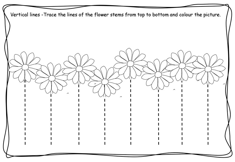 Vertical tracing worksheets » Vertical tracing line sheets (1)