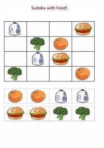 food sudoku for kids