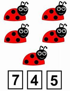 ladybug clothespin card