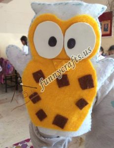 owl puppet with felt (4)