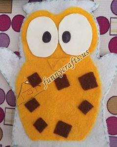 owl puppet with felt (5)