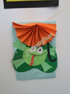paper frog craft