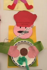 paper plate cook craft