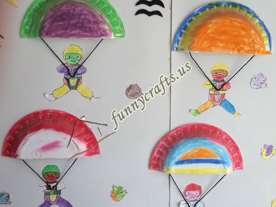 Parachute Craft For Preschoolers Paper Plate