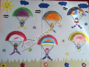 paper plate parachute craft for preschoolers (10)