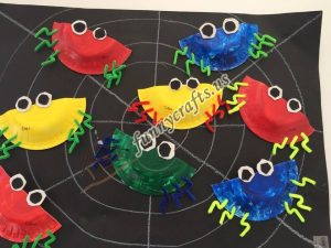 paper plate spider craft (1)