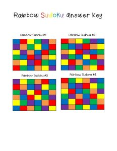 rainbow sudoku answer key