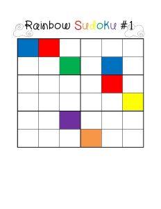 rainbow sudoku for kids