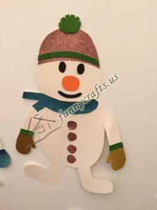 snowman craft with paper (2)