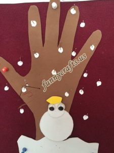 winter craft with  paper