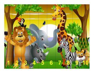 animals savana puzzle