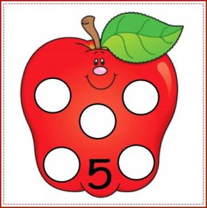 apple number cards (5)