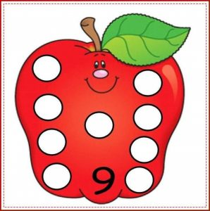 apple number cards (9)