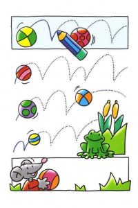 ball  fun tracing activities