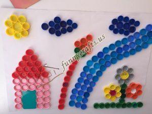 bottle cap crafts for preschool (1)